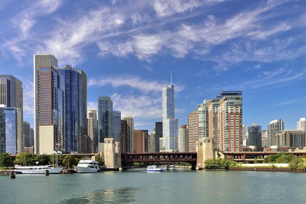 Skyline Chicago, Michigan, USA