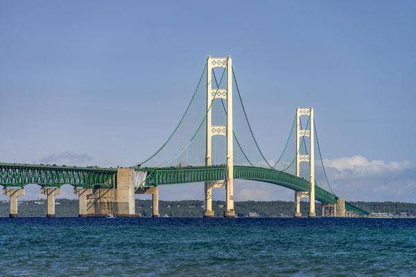 Mackinac Bridge, Lake Michigan, USA
