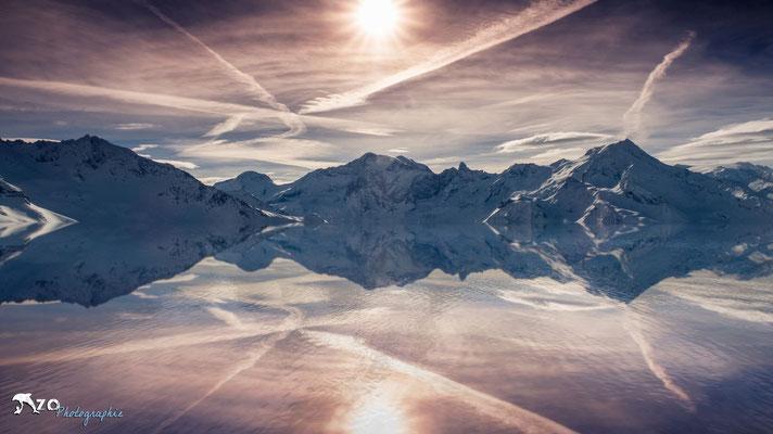 Photographie d'un lac de montagne à La plagne - Paradiski - Enzo Fotographia - Enzo Photographie