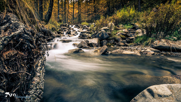 Ruisseau en longue exposition