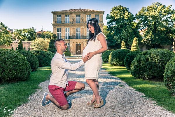 Photographie grossesse, femme enceinte, au pavillon vendome à aix-en-provence