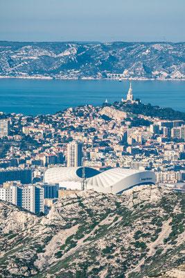 Marseille - Notre dame de la garde - le stade vélodromme - 046