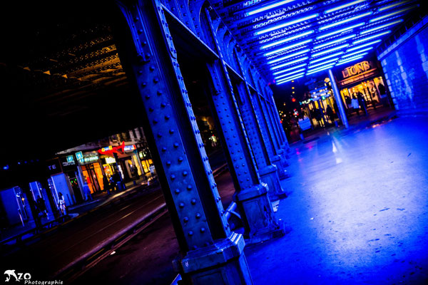 Le pont de la gare de Nice rue masséna