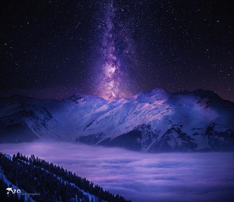 Photographie de la plagne - voie lactée en haute montagne - Paradiski - Enzo Fotographia - Enzo Photographie