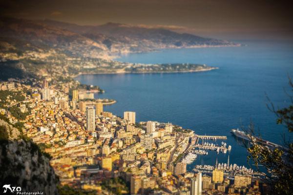 Monaco depuis la Turbie
