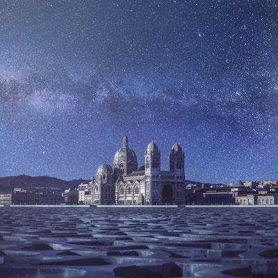 Marseille - Cathédrale de la Major de nuit - 060