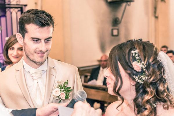 Cérémonie religieuse pour le mariage de Pauline et Bertrand