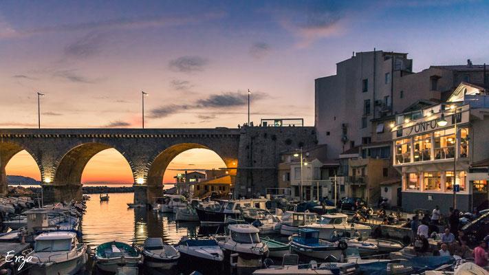 Marseille - Marseille - Vallon des Auffes au coucher du soleil - 070