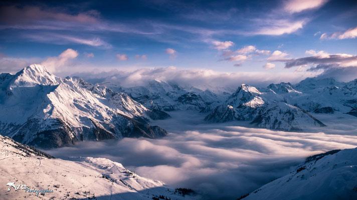 Photographie à La plagne - Mer de nuage - Paradiski - Enzo Fotographia - Enzo Photographie