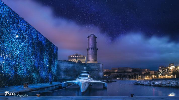 Marseille - Mucem sous un ciel étoilé - 062