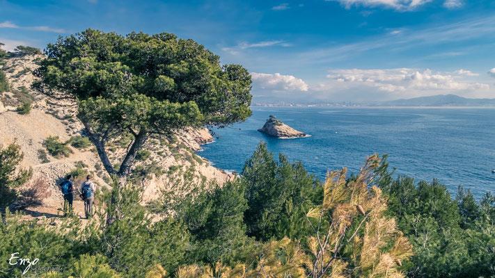 Île de l'éverine - Ensues la redonne - Ballade Randonnée  - sentier des douaniers - Niolon - Côte bleue