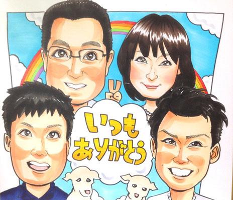 大阪  人気 店舗  似顔絵 可愛い 安い イラスト プレゼント 記念日 子供 成長記録