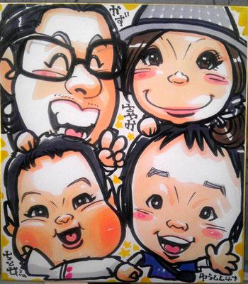 東大阪 似顔絵 洋一丸 即日 大阪 にがおえ 似顔絵 可愛い 安い イラスト プレゼント 記念日 子供 成長記録