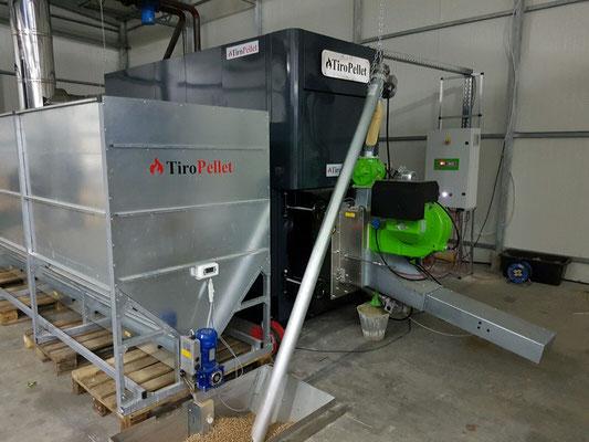 1000kW Agrar-Pelletkessel mit Zwischentank