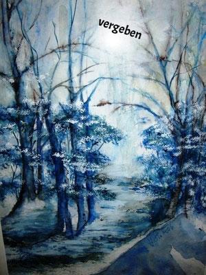 Winterzauberwald_Aquarell, vergeben