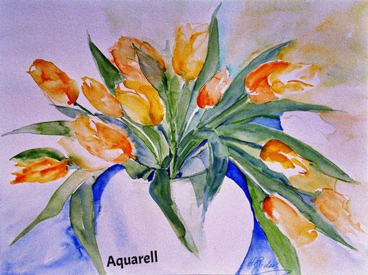 Tulpen_Aquarell, 40 x 60