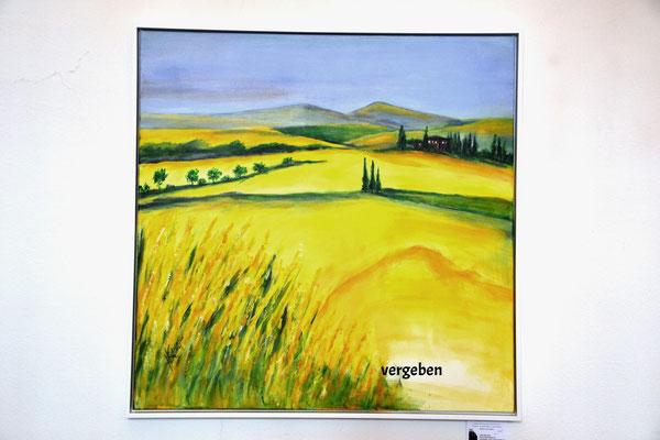 Rapsfeld 2014, Acryl 80 x 80