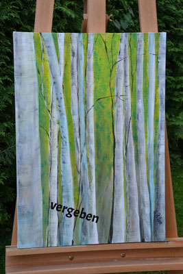 Birkenwald, Acryl 40 x 60