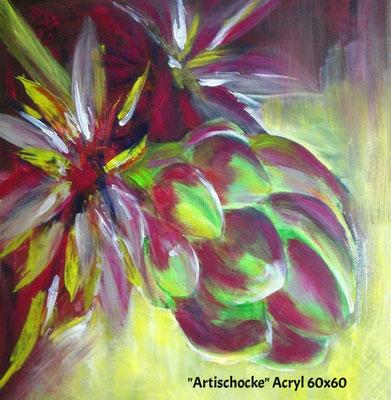 Artischocke, Acryl 60 x 60
