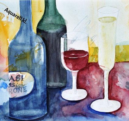 Flaschenstilleben_Aquarell
