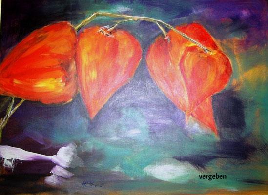 Lampignonblume, Acryl 60 x 80