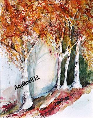 Baumgruppe im Herbst_kl_Aquarell