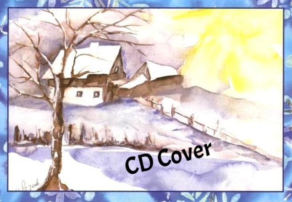 Winterlandschaft_Aquarell f. CD Cover, vergeben