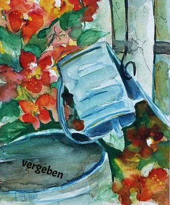 Stilleben im Garten_Aquarell_vergeben
