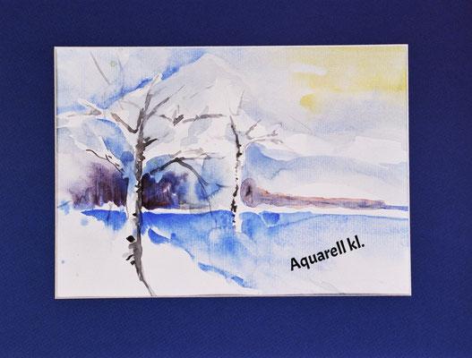 Winterlandschaft_kl_Aquarell, unverkäuflich