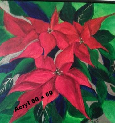 Weihnachtsstern 2014, Acryl 60 x 60