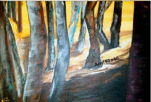 Bäume im Herbst, Acryl 60 x 80