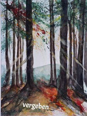 Baumgruppe im Herbst_Aquarell_vergeben
