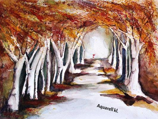 Herbstallee_Aquarell