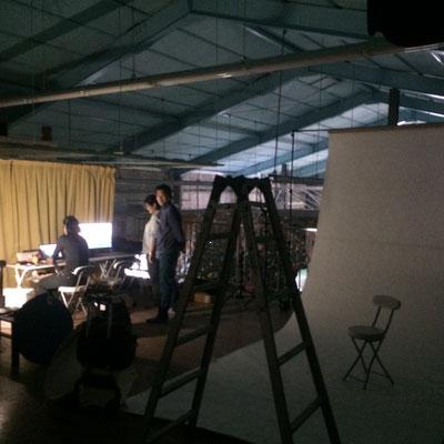 ジムの2階スペースが、写真撮影のスタジオと化しました!