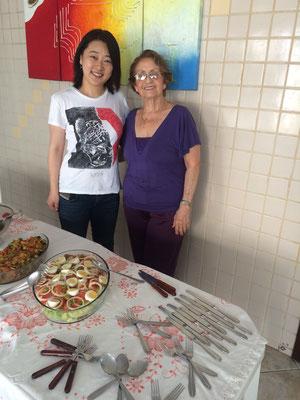 ジョルジーニョの奥様、ドナ ネウザと。彼女はとてもインテリジェンスでウィットに溢れた素敵な女性です。