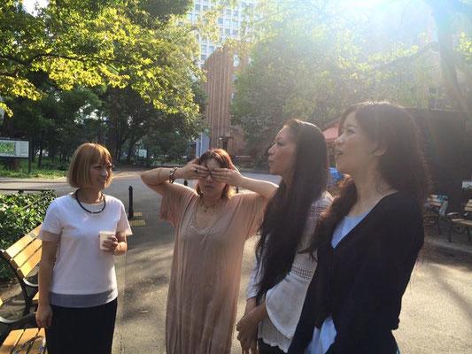 日比谷公園で歌の練習〜〜〜🎶 学生時代を思い出しました^^