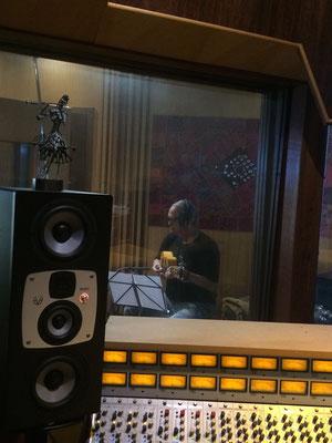 ジョルジ フィーリョ!カヴァキーニョを追加録音に来てくださいました!