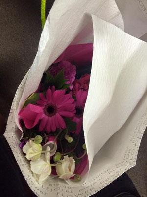 聴きにきてくださったお客様に素敵な花束をいただきました!ありがとうございました❤️