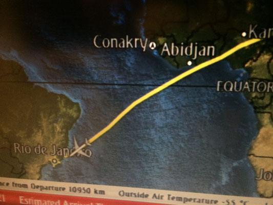 今回はドバイ経由で大西洋を渡ってブラジル入り。