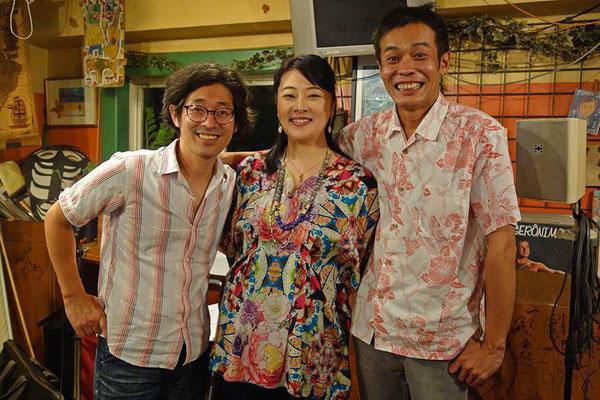 初のトリオ!大満足のライブになりました。またやりたーい✨範子さん、素敵な記念写真をありがとうございました♪