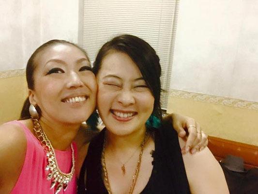 今回のイベントで初めてお会いしたヴォーカリストの上田裕香さん。何から何までお世話になりました... ありがとう!