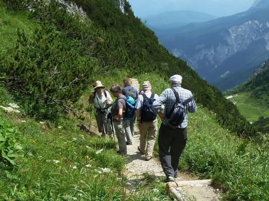 Abstieg zum Kreuzeck