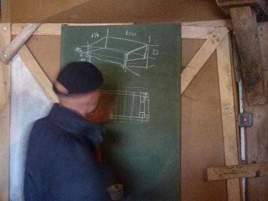 Construction de châssis avec Denis le colibricoleur