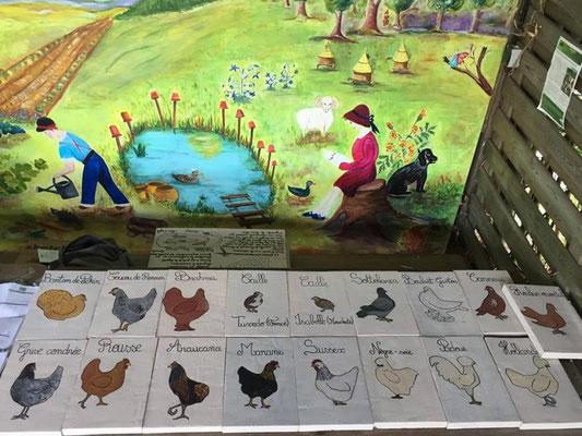 Peinture des panneaux pédagogiques