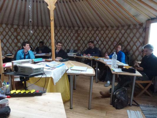 La salle de classe des stagiaires en formation longue en permaculture