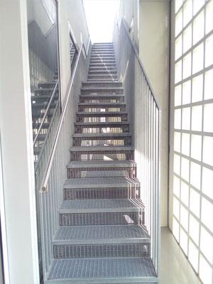 Bibliothek - Zugang zur Dachterrasse