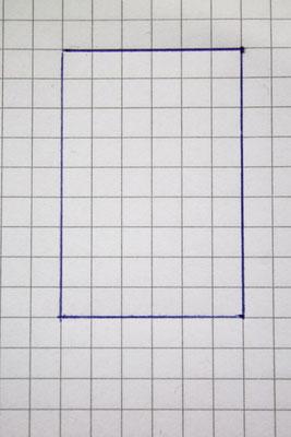 Der Rahmen, 6x9 Kästchen.