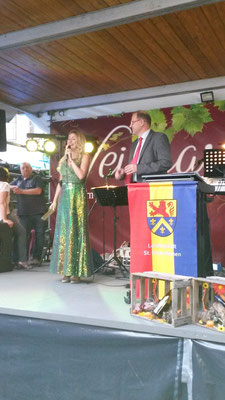 Loreley Theresa und Altbürgermeister Heinz-Peter Mertens 2016
