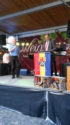 Landrat Puchtler mit Altbürgermeister Heinz-Peter Mertens 2016
