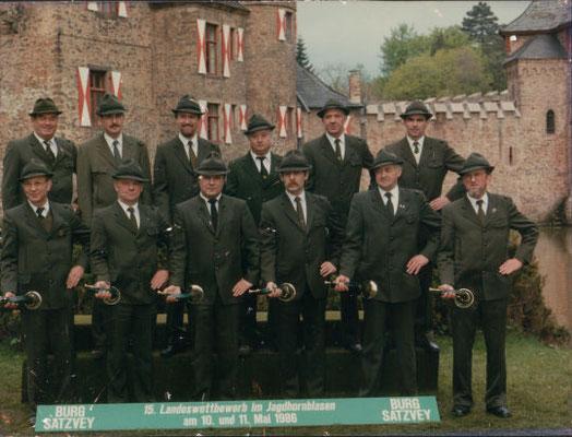 Bläserwettbewerb 1986 in Satzvay